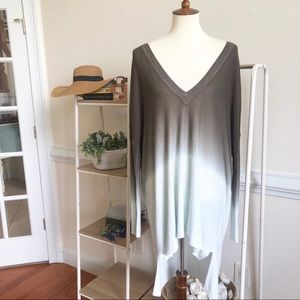 ANTHROPOLOGIE Pins & Needles ombré oversized top